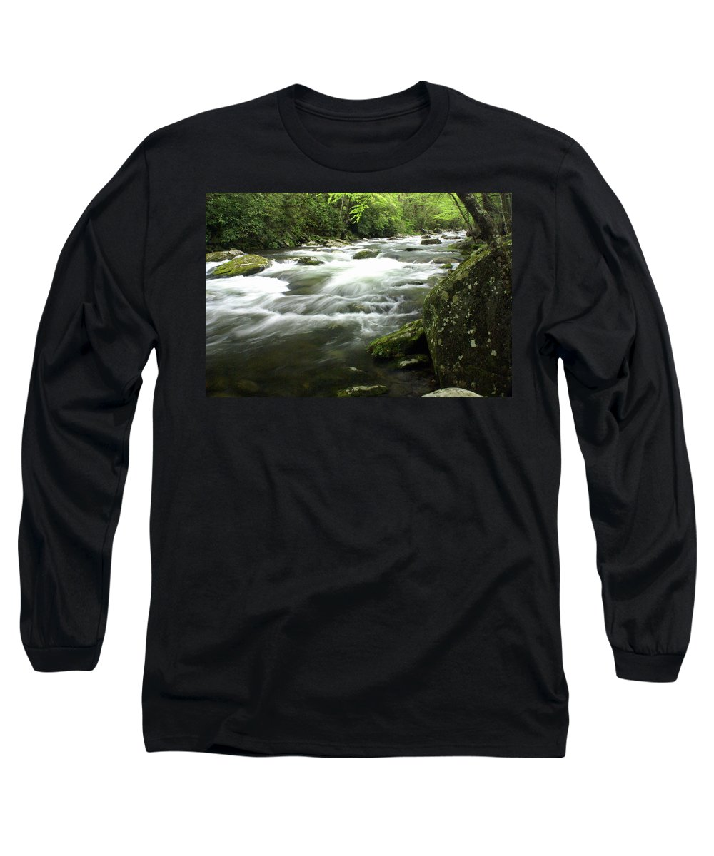 Little River Long Sleeve T-Shirt featuring the photograph Little River 3 by Marty Koch
