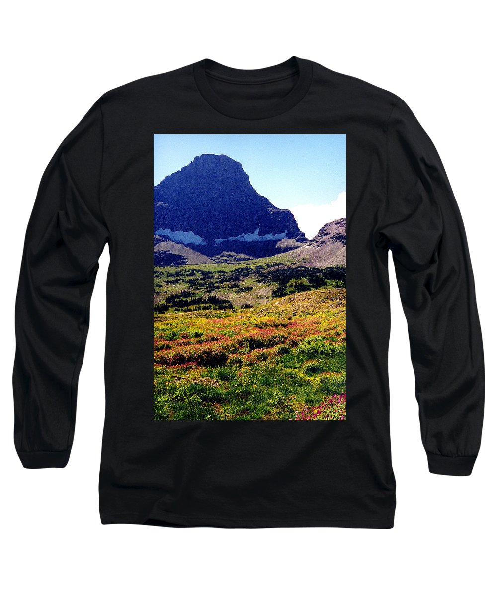 Glacier National Park Long Sleeve T-Shirt featuring the photograph Logans Pass In Glacier National Park by Nancy Mueller