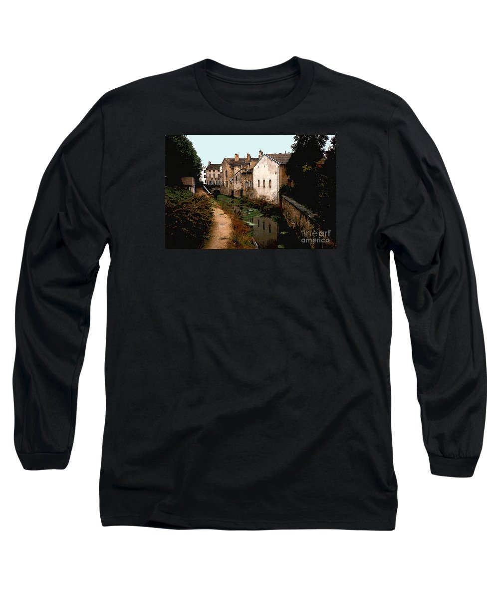 France Long Sleeve T-Shirt featuring the photograph Loire Valley Village Scene by Nancy Mueller