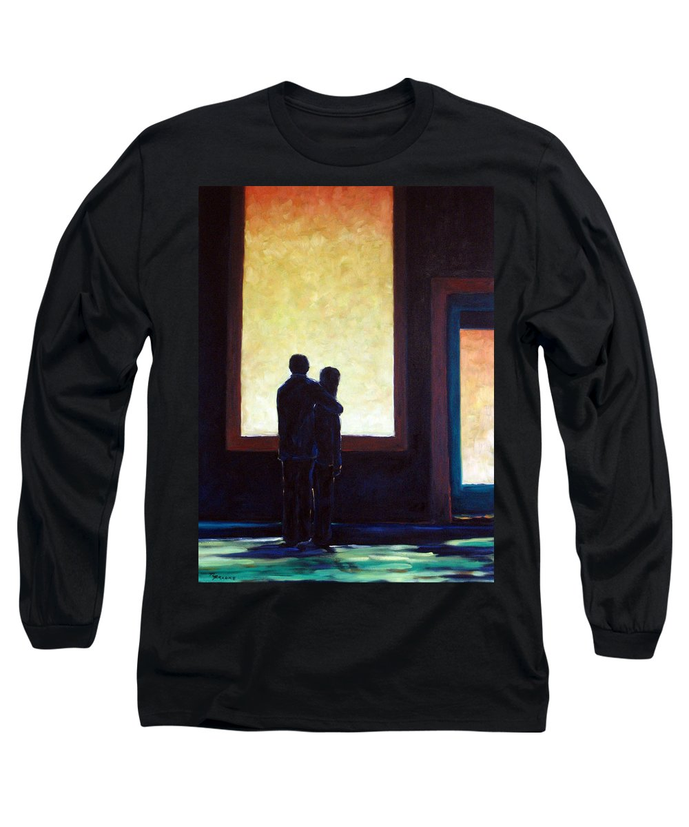 Pranke Long Sleeve T-Shirt featuring the painting Looking In Looking Out by Richard T Pranke