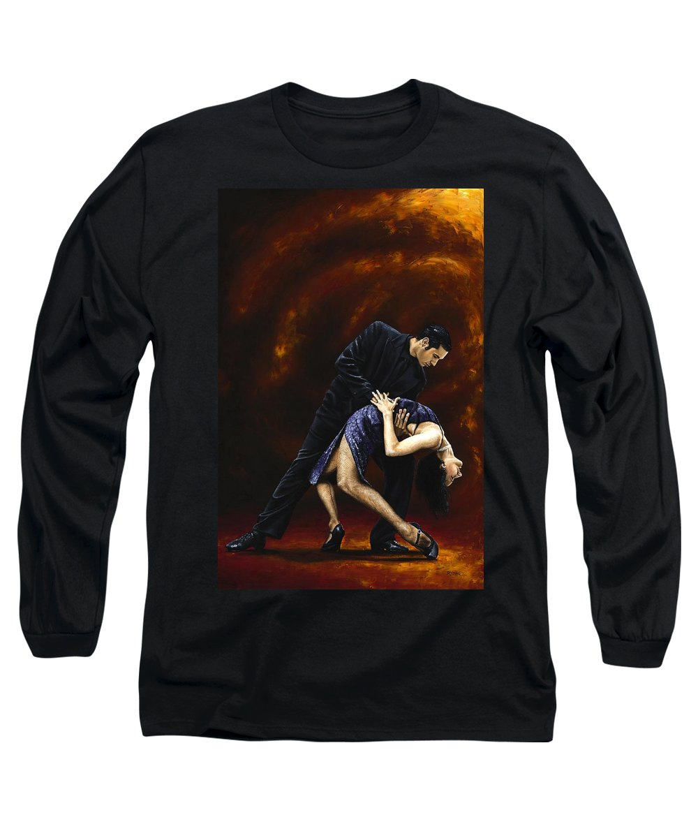 Tango Long Sleeve T-Shirt featuring the painting Lost In Tango by Richard Young