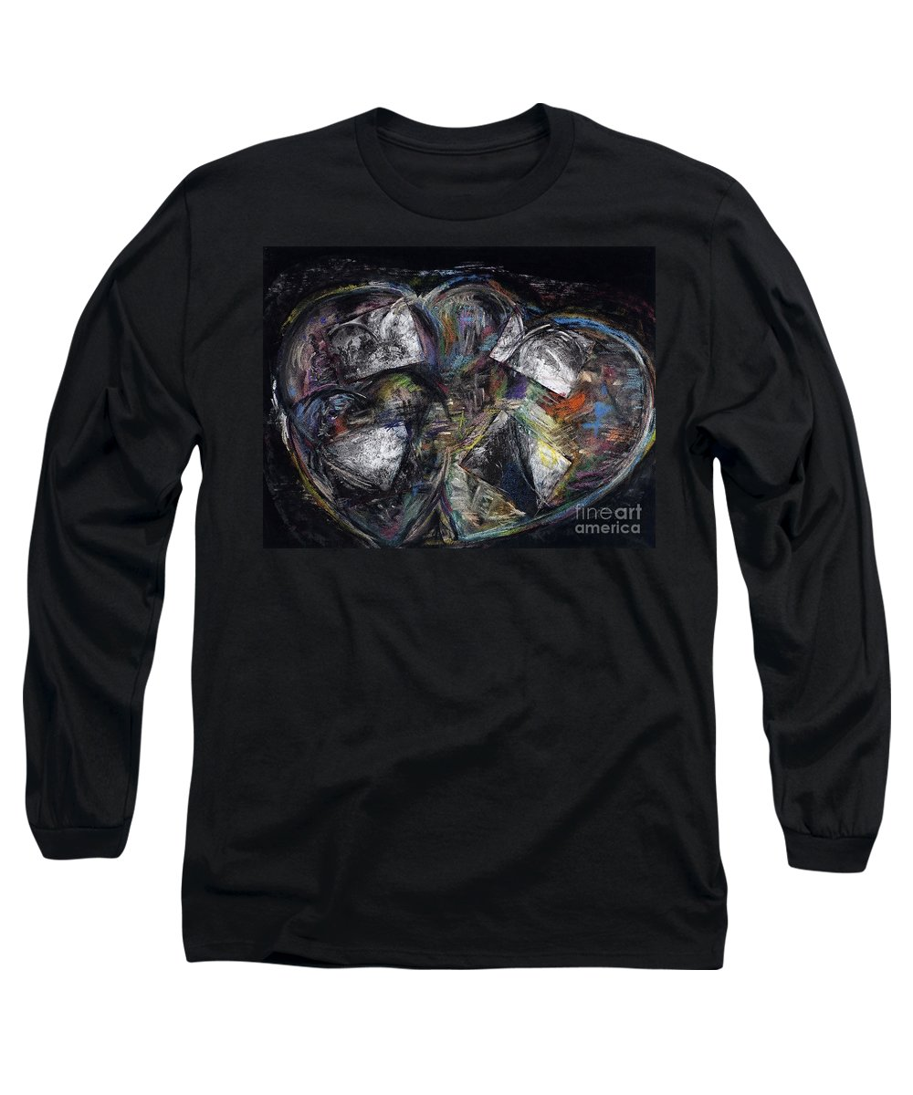 Abstract Heart Long Sleeve T-Shirt featuring the painting Lots Of Heart by Frances Marino