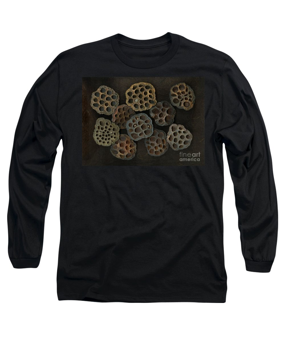 Lotus Long Sleeve T-Shirt featuring the photograph Lotus Pods by Christian Slanec