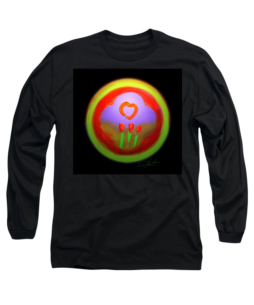 Love Long Sleeve T-Shirt featuring the painting Love Landscape Three by Charles Stuart