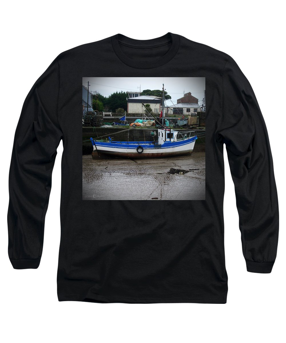 Boat Long Sleeve T-Shirt featuring the photograph Low Tide by Tim Nyberg