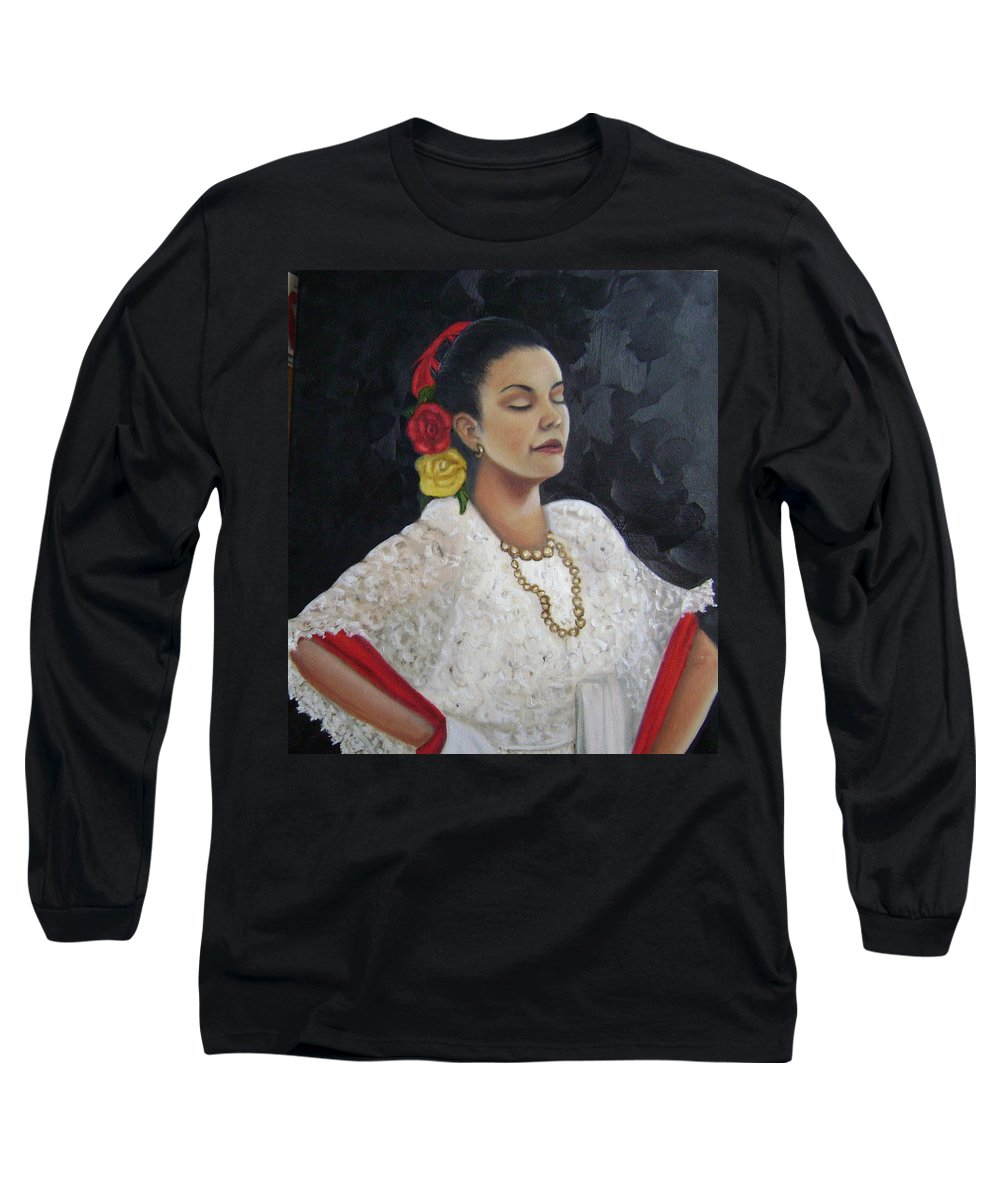 Long Sleeve T-Shirt featuring the painting Lucinda by Toni Berry