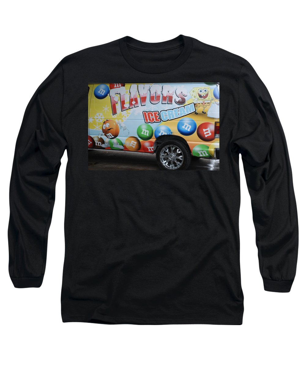 Sponge Bob Long Sleeve T-Shirt featuring the photograph M And M Flavors For The Kids by Rob Hans