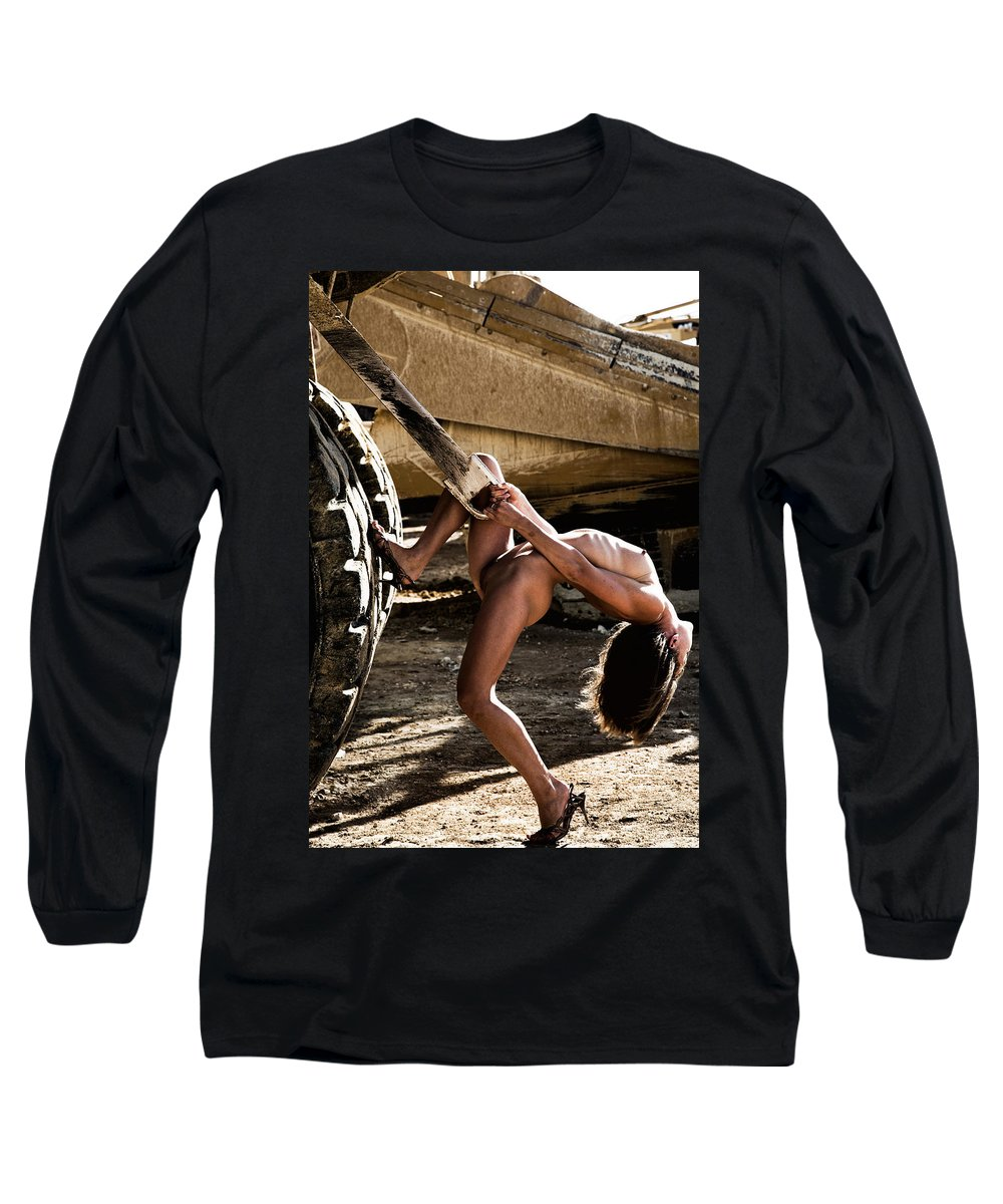 Sensual Long Sleeve T-Shirt featuring the photograph Machinery by Olivier De Rycke
