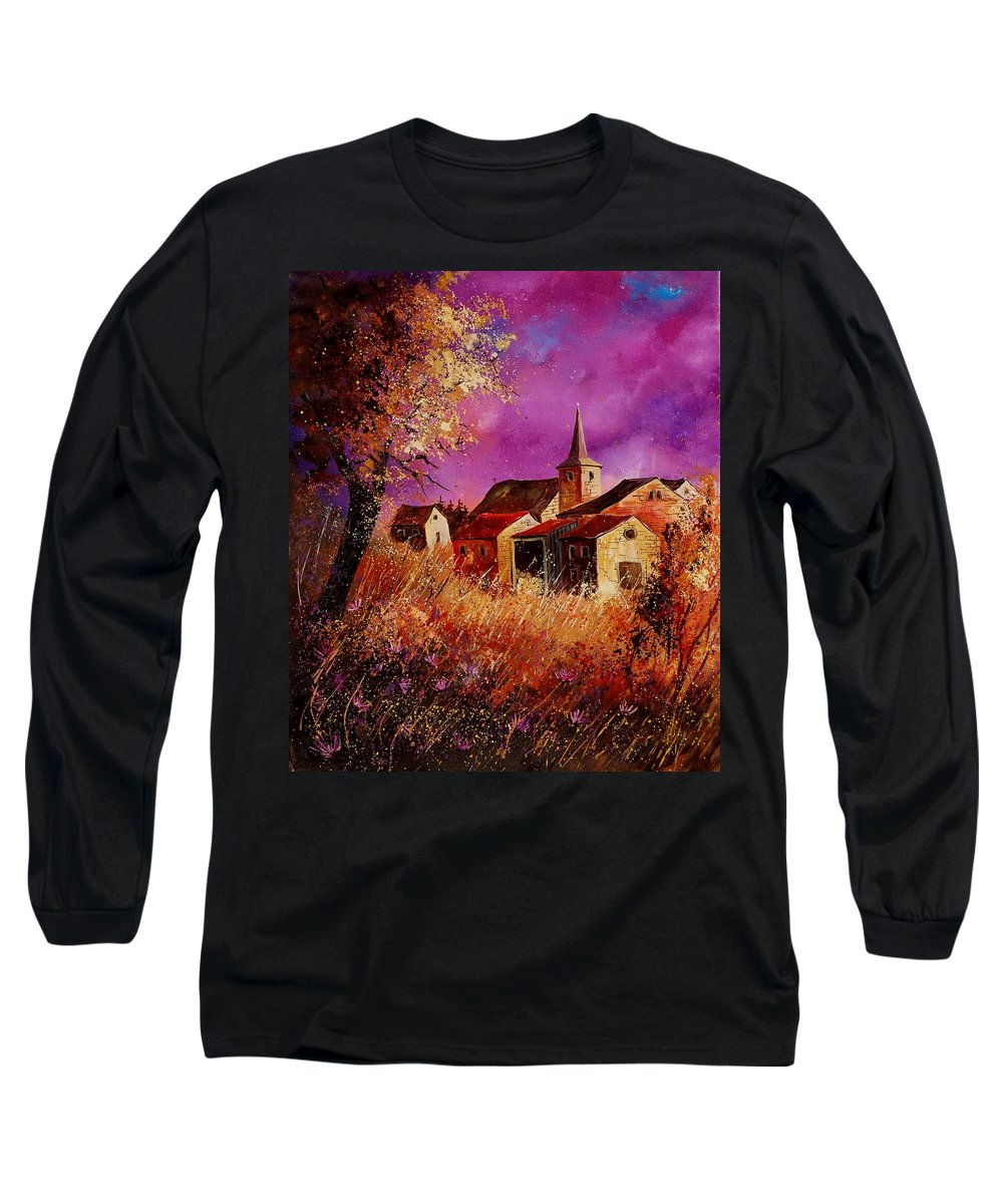 Landscape Long Sleeve T-Shirt featuring the painting Magic Autumn by Pol Ledent
