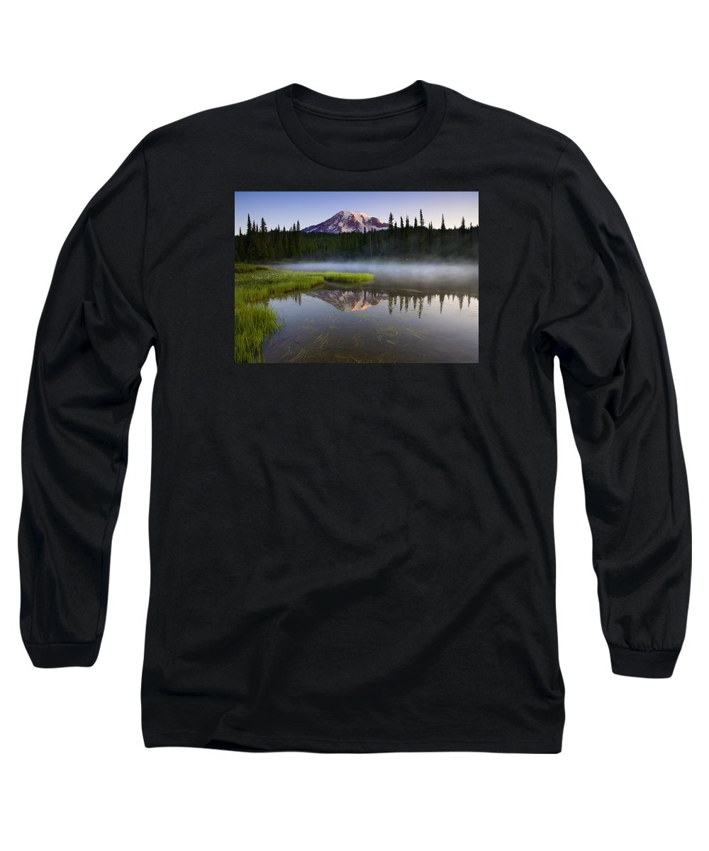 Lake Long Sleeve T-Shirt featuring the photograph Majestic Dawn by Mike Dawson