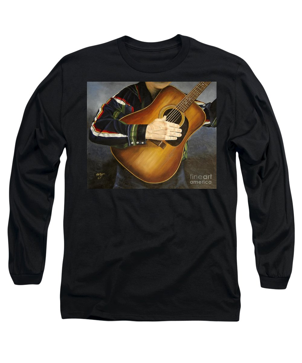 Usa Long Sleeve T-Shirt featuring the painting Making Music by Mary Rogers