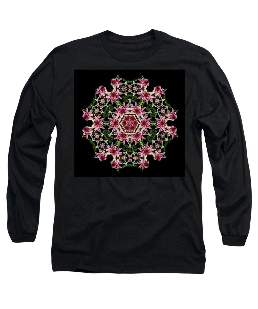 Mandala Long Sleeve T-Shirt featuring the photograph Mandala Monadala Lisa by Nancy Griswold