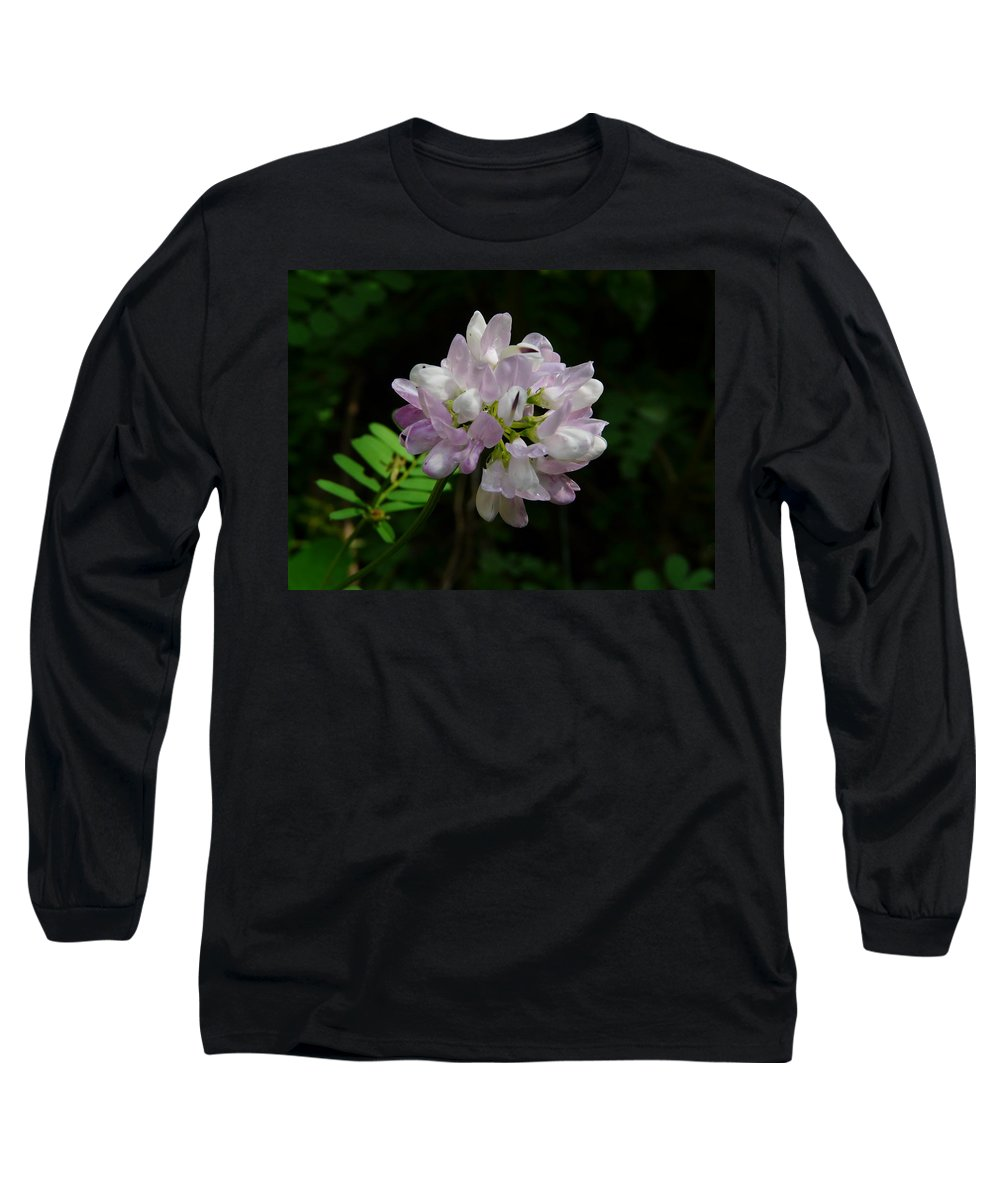 Flower Long Sleeve T-Shirt featuring the photograph Mauve Flower by Valerie Ornstein