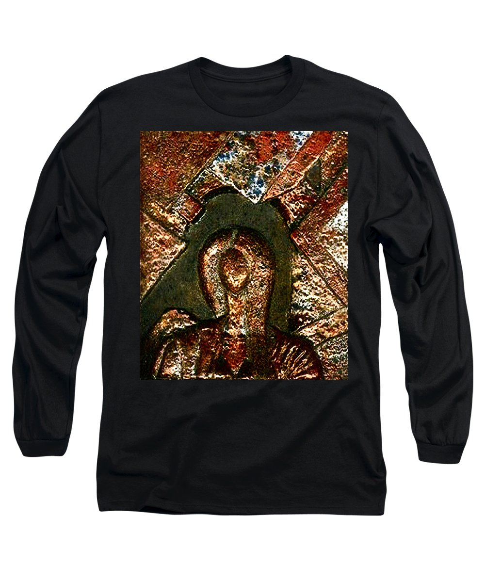 Ceramic Long Sleeve T-Shirt featuring the relief Maze Of Memories by Madalena Lobao-Tello