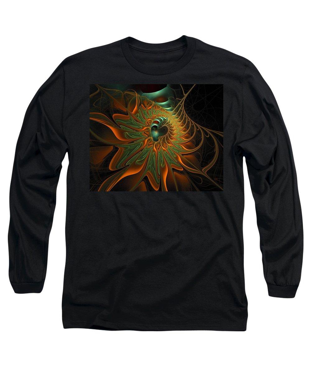 Digital Art Long Sleeve T-Shirt featuring the digital art Meandering by Amanda Moore