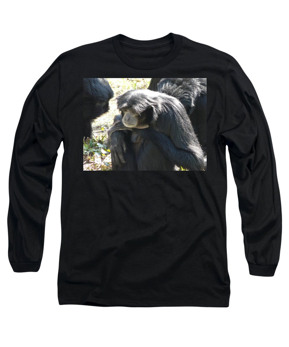 Animal Long Sleeve T-Shirt featuring the photograph Melancholy by Valerie Ornstein