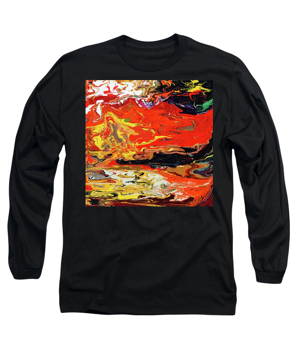 Fusionart Long Sleeve T-Shirt featuring the painting Melt by Ralph White