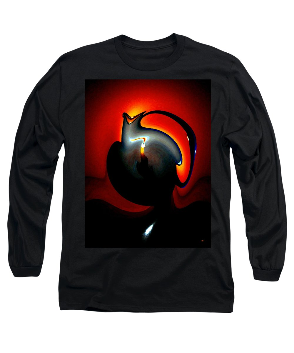 Dramatic Long Sleeve T-Shirt featuring the digital art Melting Point by Will Borden