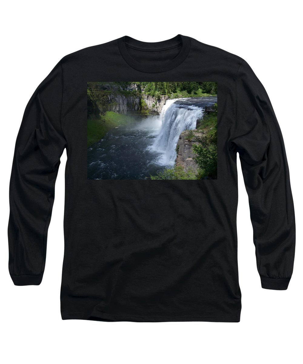 Landscape Long Sleeve T-Shirt featuring the photograph Mesa Falls by Gale Cochran-Smith