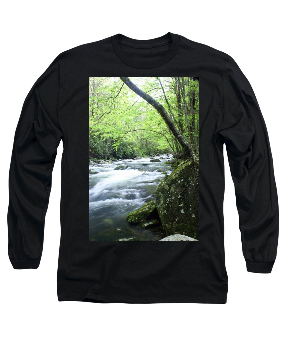 Stream Rive Long Sleeve T-Shirt featuring the photograph Middle Fork River by Marty Koch