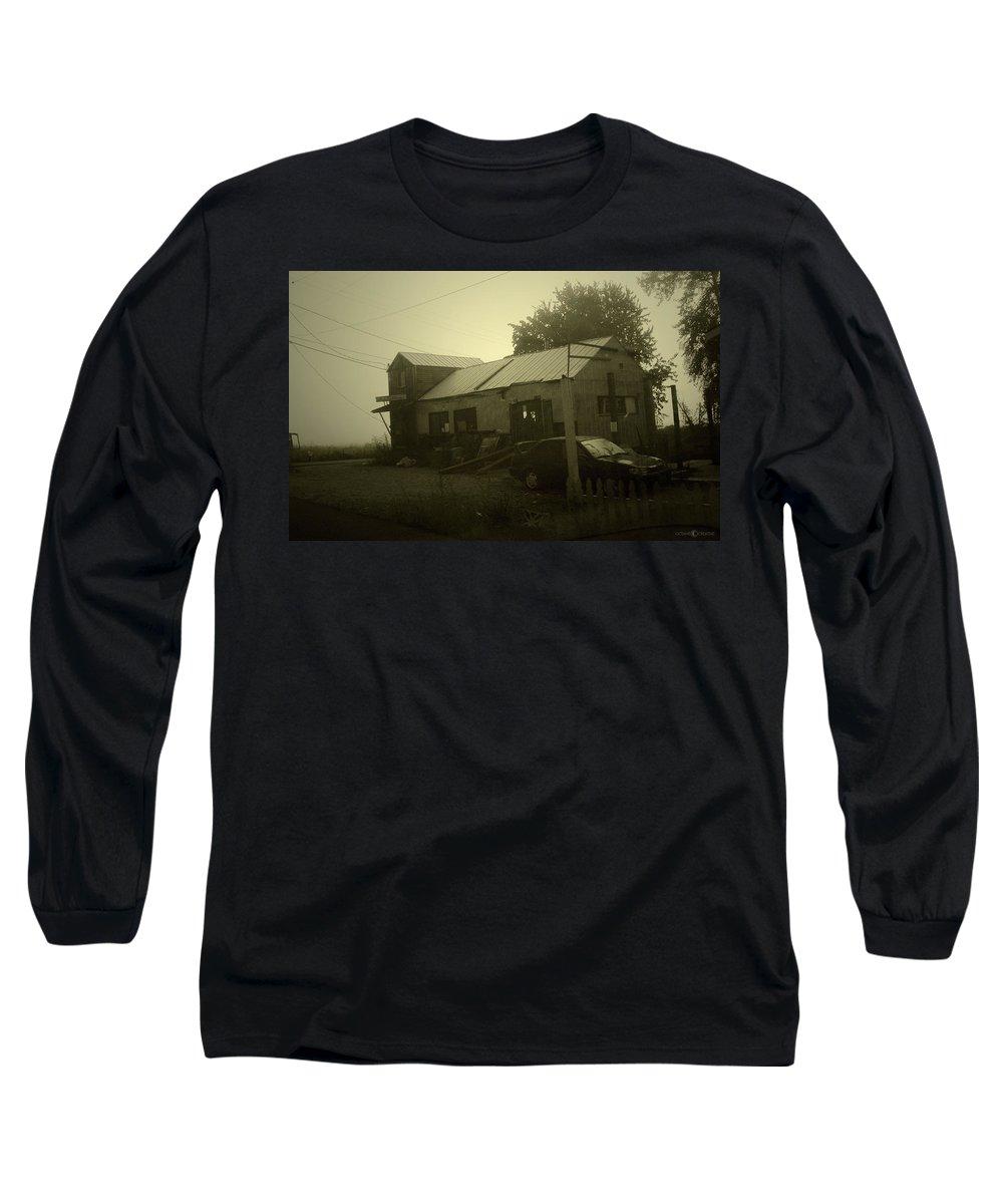 Milltown Long Sleeve T-Shirt featuring the photograph Milltown Merchantile by Tim Nyberg