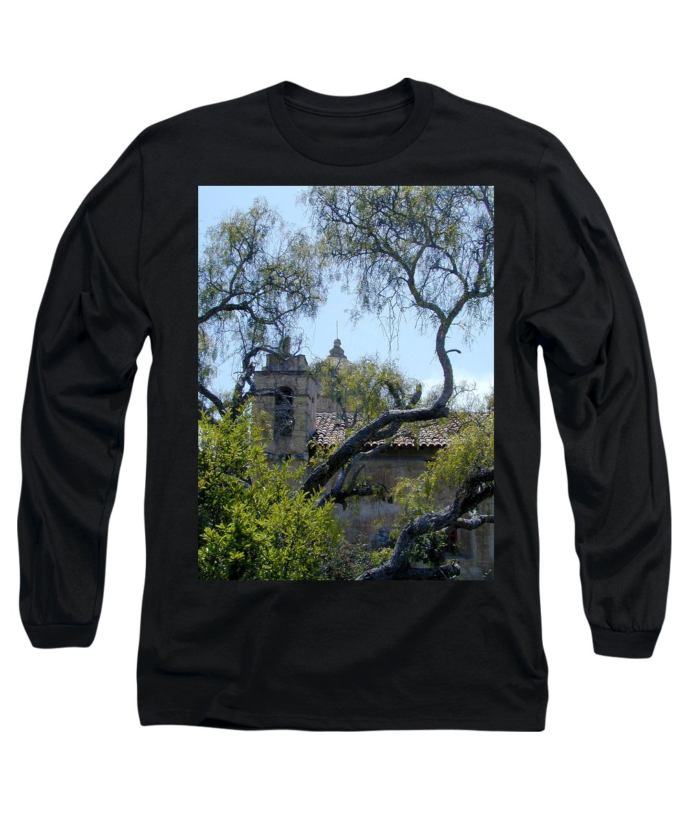 Mission Long Sleeve T-Shirt featuring the photograph Mission At Carmell by Douglas Barnett
