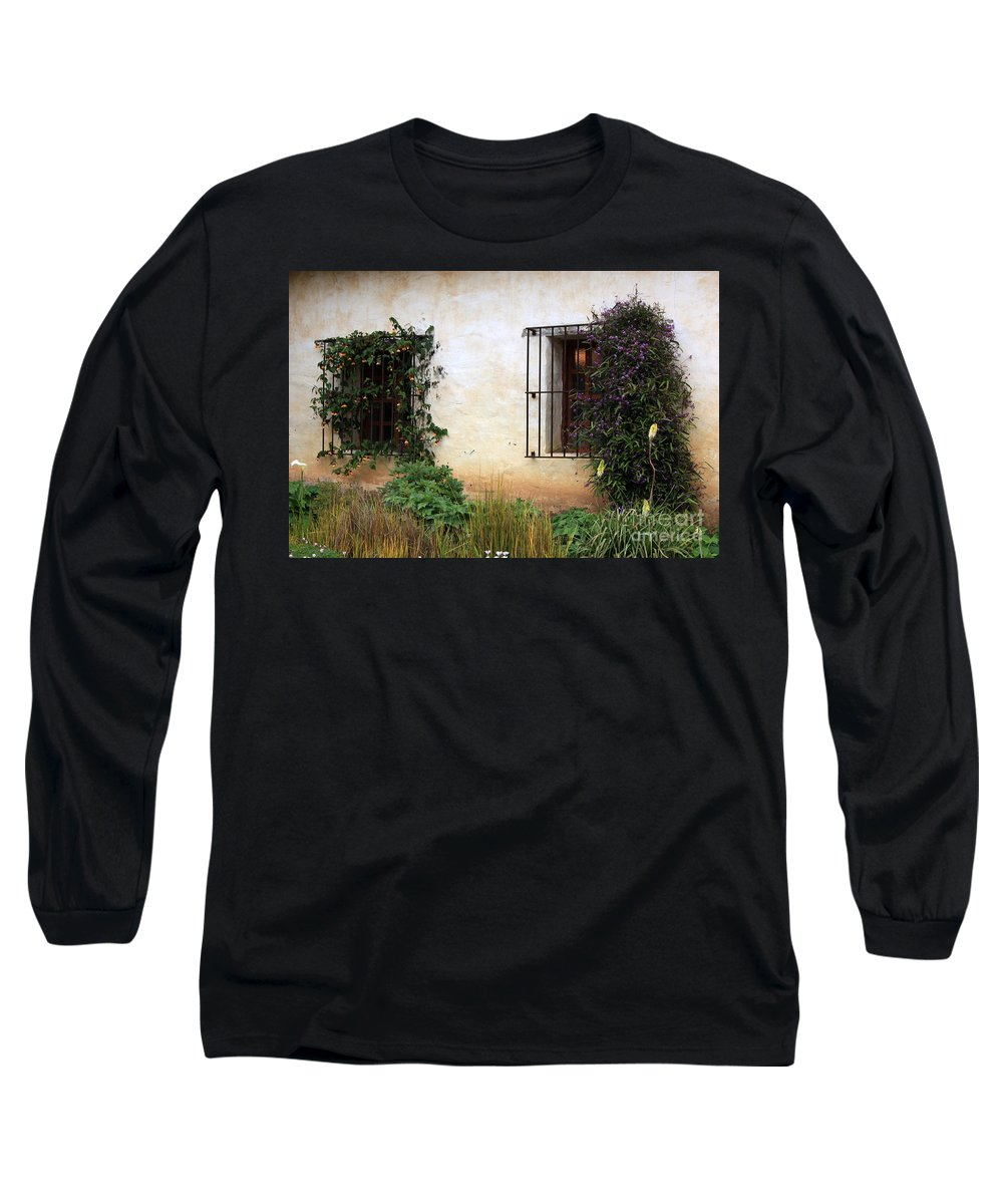 Vines Long Sleeve T-Shirt featuring the photograph Mission Windows by Carol Groenen