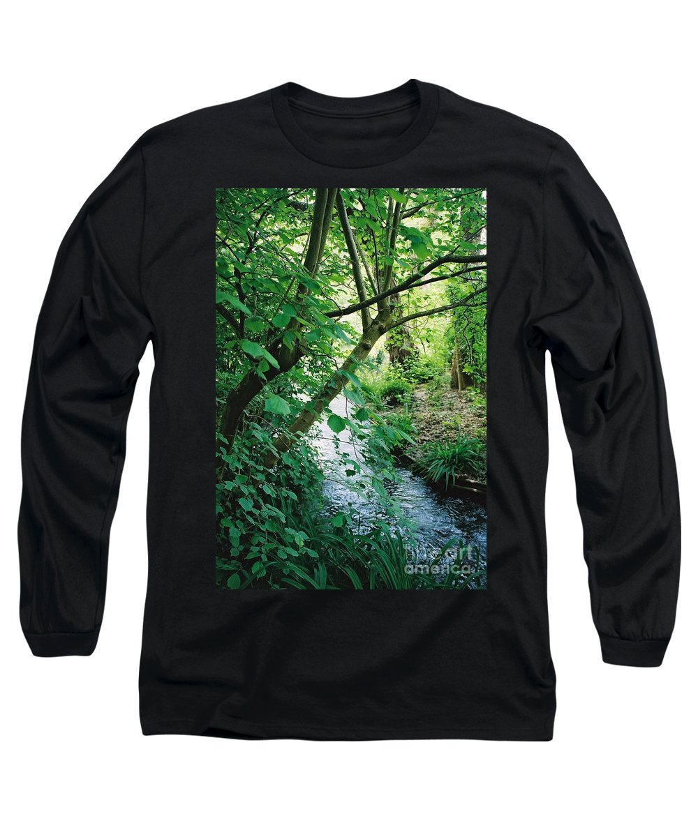 Photography Long Sleeve T-Shirt featuring the photograph Monet's Garden Stream by Nadine Rippelmeyer