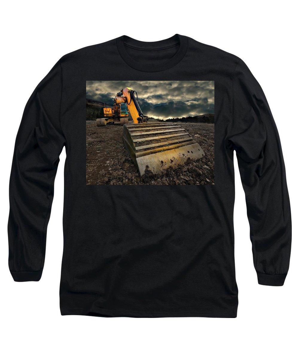 Excavator Photographs Long Sleeve T-Shirts
