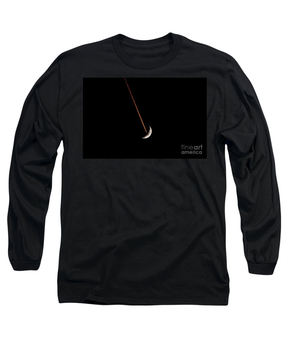 Moon Long Sleeve T-Shirt featuring the photograph Moon Flight by David Lee Thompson
