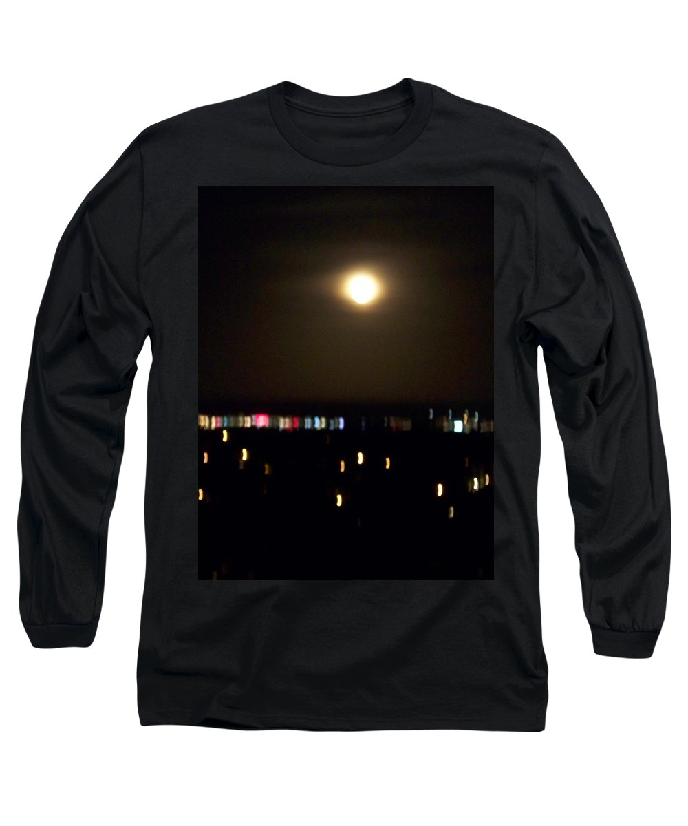 Night Light Long Sleeve T-Shirt featuring the photograph Moonglow by Laurie Paci