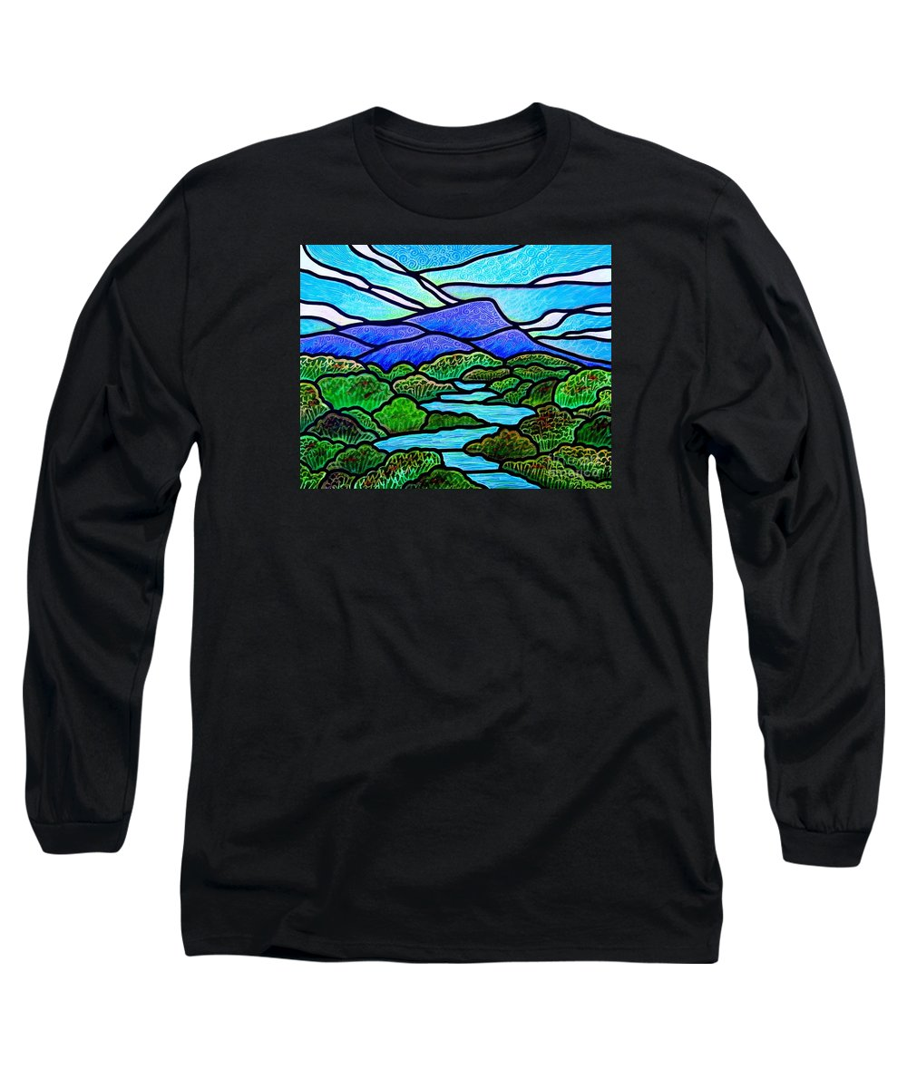 Paintings Long Sleeve T-Shirt featuring the painting Mountain Glory by Jim Harris