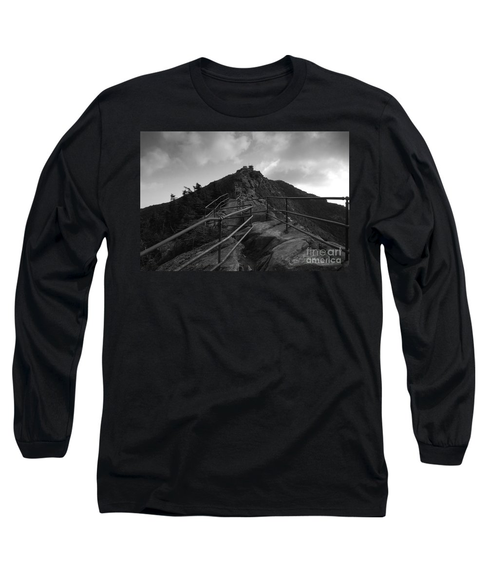 White Face Mountain New York Long Sleeve T-Shirt featuring the photograph Mountain Trail by David Lee Thompson