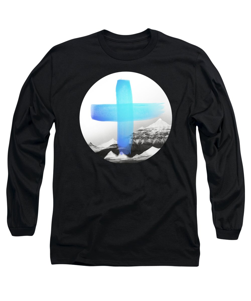 Mountains Long Sleeve T-Shirt featuring the painting Mountains by Amy Hamilton