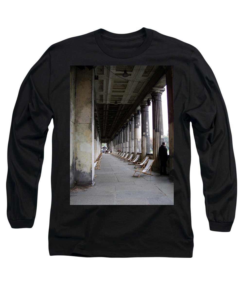 Museumsinsel Long Sleeve T-Shirt featuring the photograph Museumsinsel by Flavia Westerwelle
