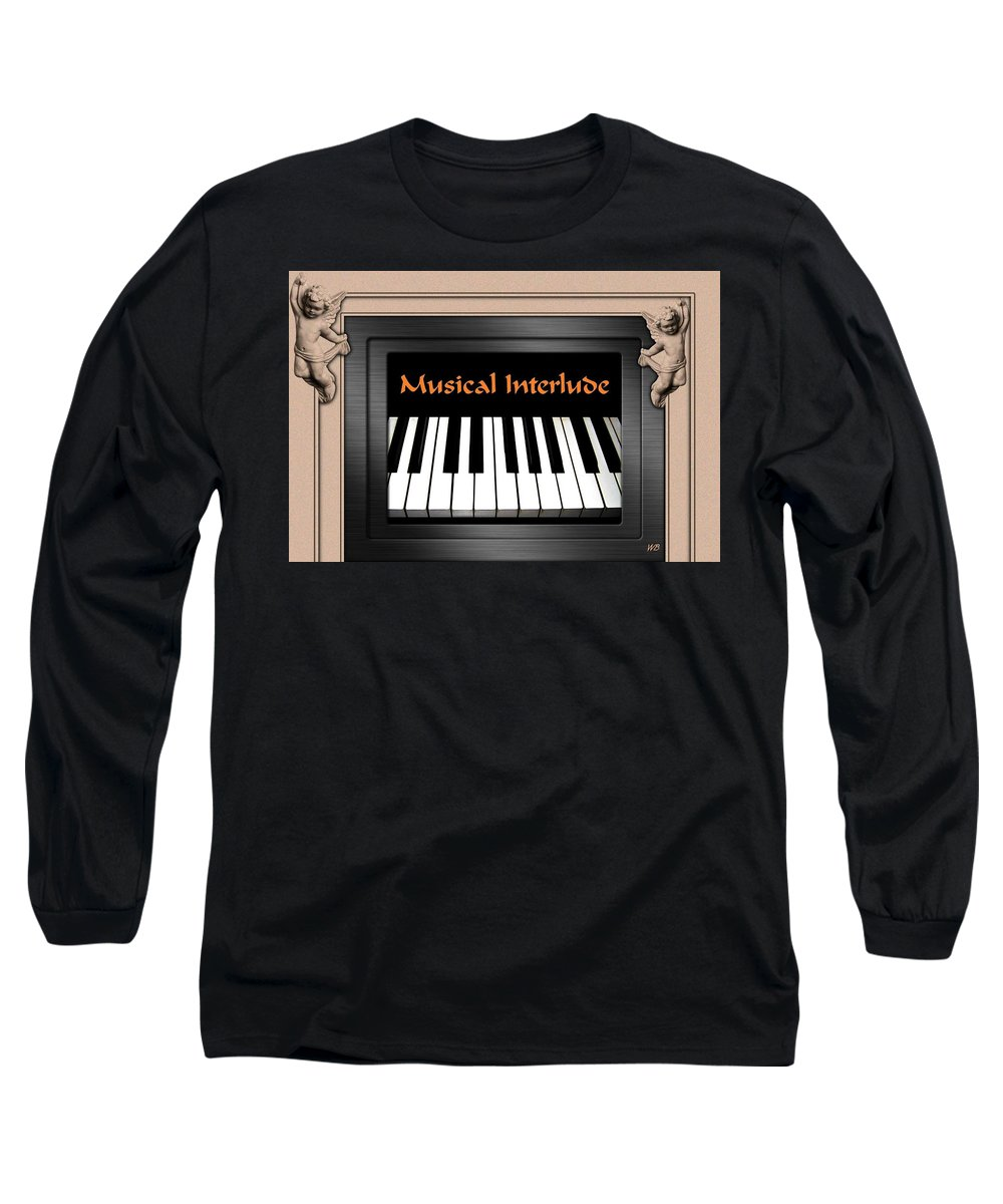 Architecture Long Sleeve T-Shirt featuring the digital art Musical Interlude by Will Borden