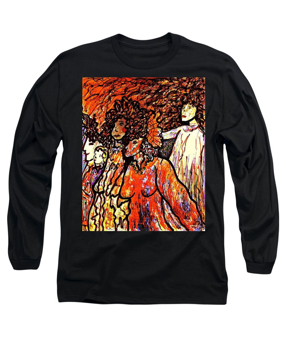 Figurative Art Long Sleeve T-Shirt featuring the painting Musical Recital by Natalie Holland