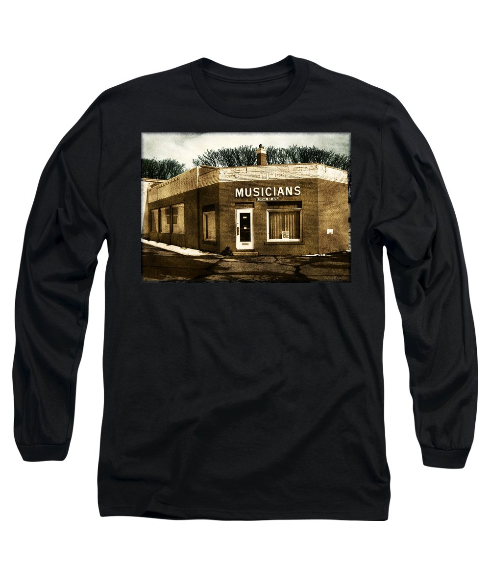 1950s Long Sleeve T-Shirt featuring the photograph Musicians Local 67 by Tim Nyberg