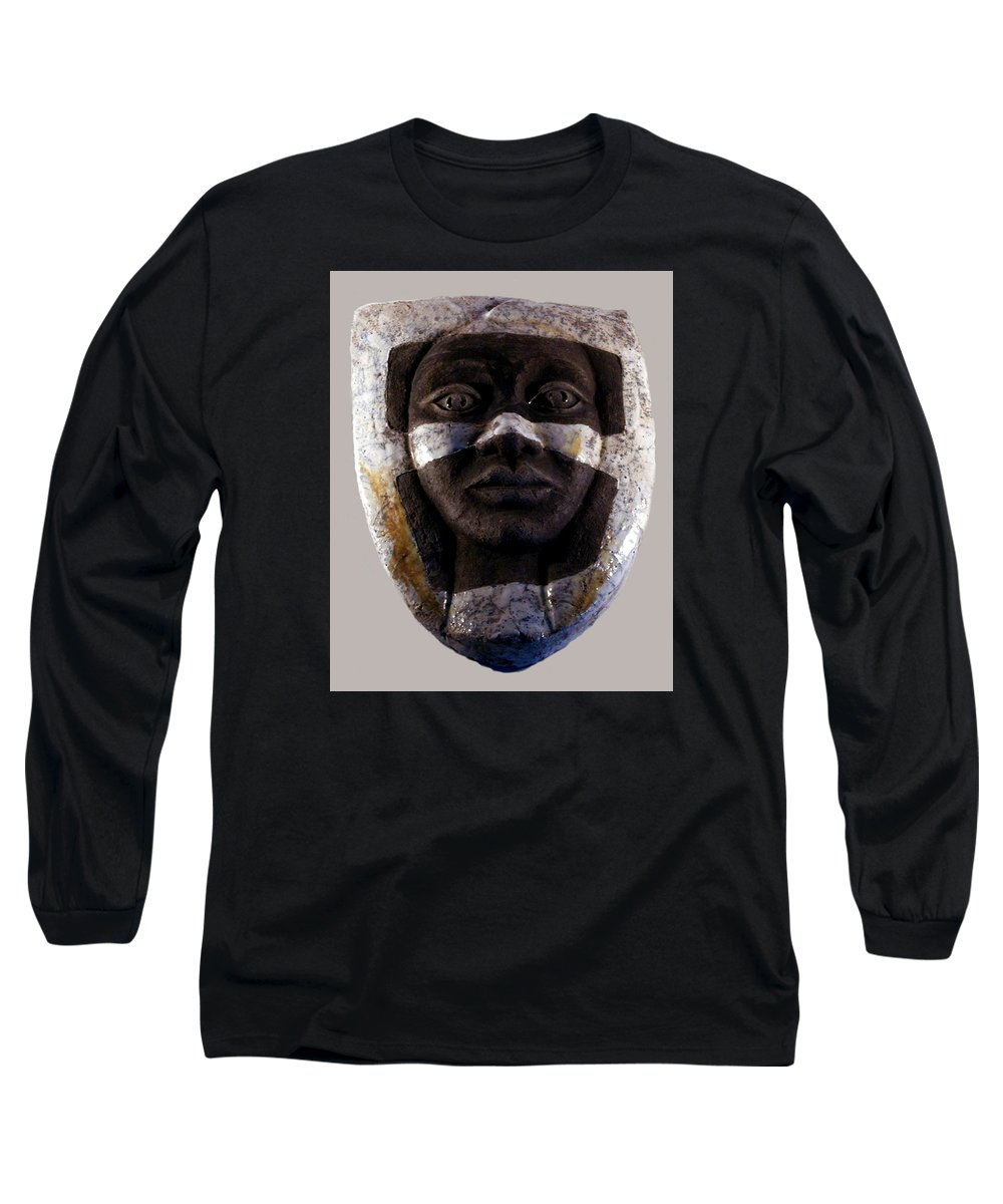 Ceramic Long Sleeve T-Shirt featuring the relief My Veils I by Madalena Lobao-Tello