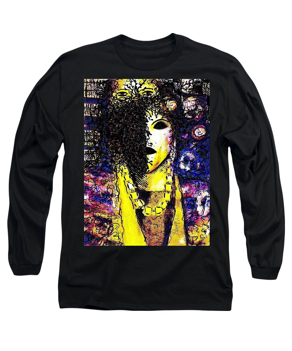 Woman Long Sleeve T-Shirt featuring the painting Mysterious Encounter by Natalie Holland