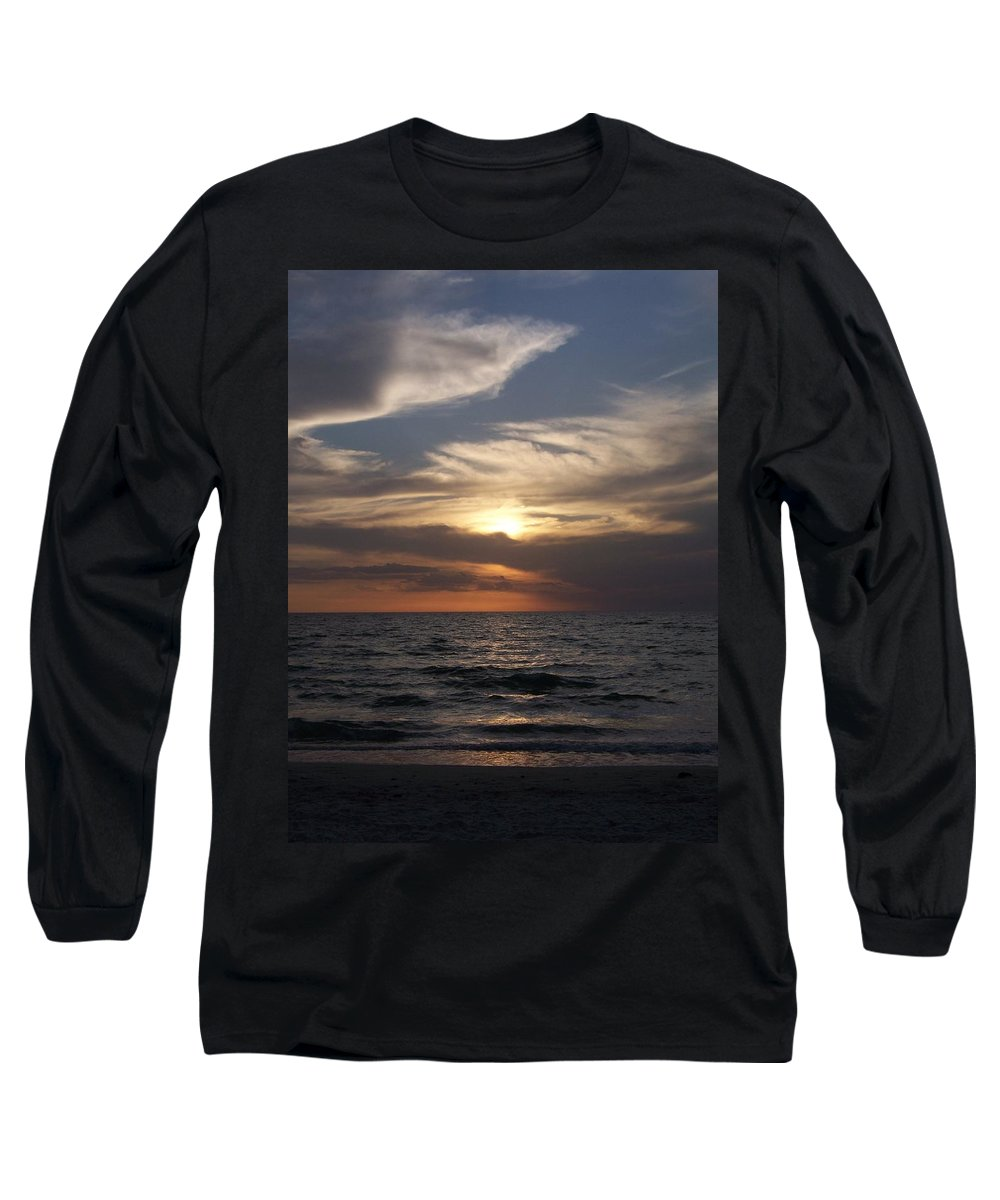 Naples Long Sleeve T-Shirt featuring the photograph Naples Sunset 0043 by Laurie Paci