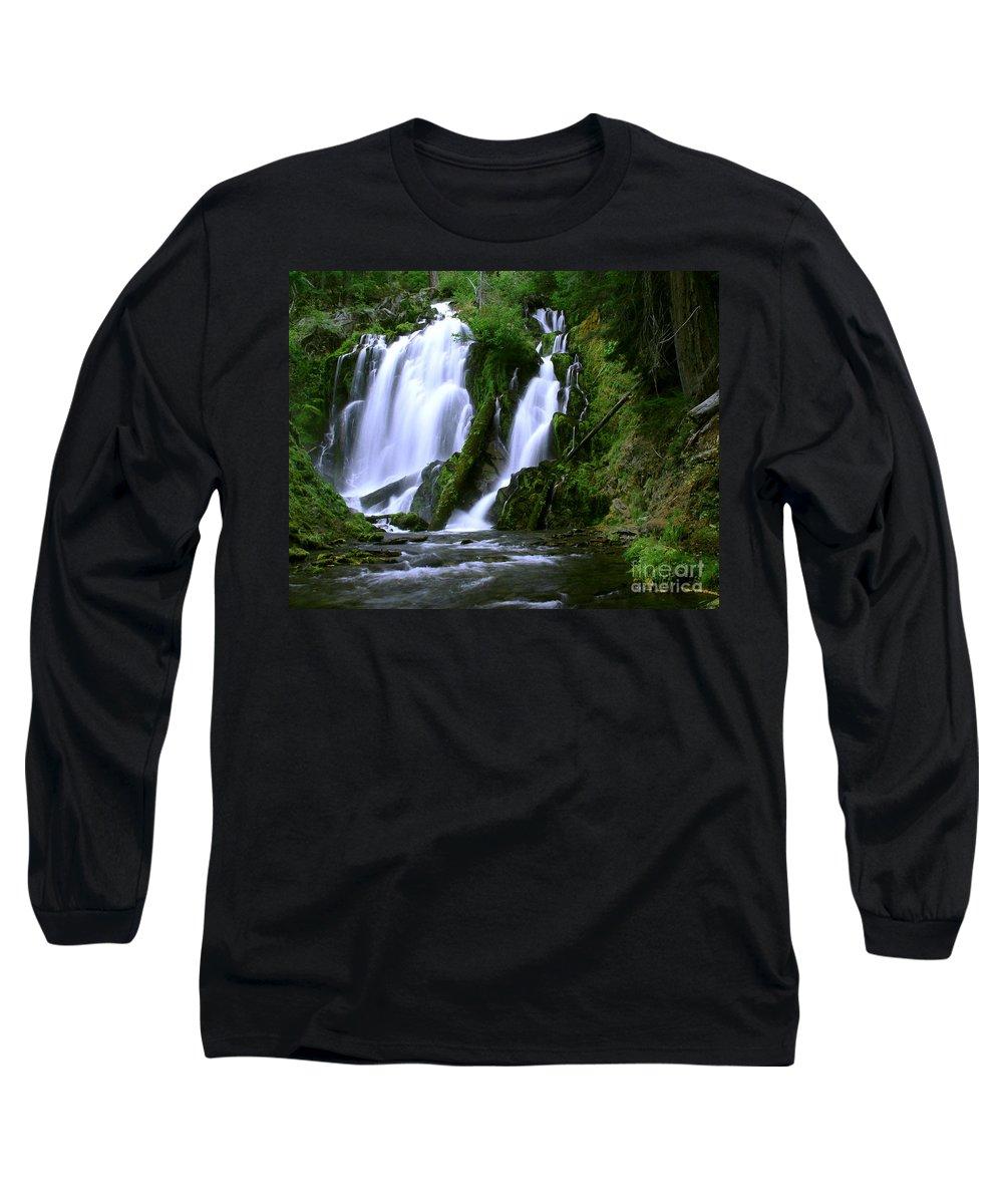 Waterfall Long Sleeve T-Shirt featuring the photograph National Creek Falls 02 by Peter Piatt