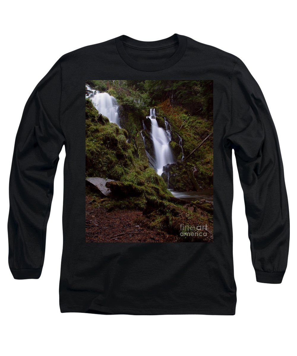 Waterfall Long Sleeve T-Shirt featuring the photograph National Creek Falls 04 by Peter Piatt