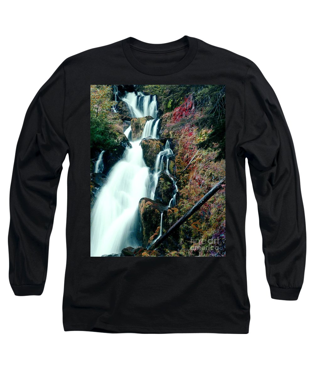 Waterfall Long Sleeve T-Shirt featuring the photograph National Creek Falls 07 by Peter Piatt