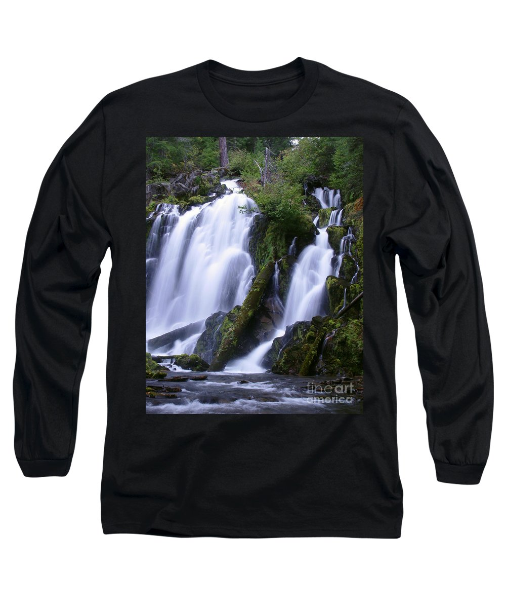Waterfall Long Sleeve T-Shirt featuring the photograph National Creek Falls 09 by Peter Piatt