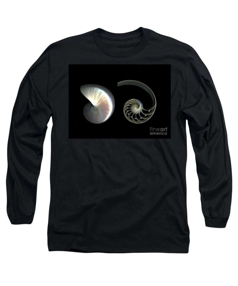Nautilus Long Sleeve T-Shirt featuring the photograph Nautilus Deconstructed by Christian Slanec