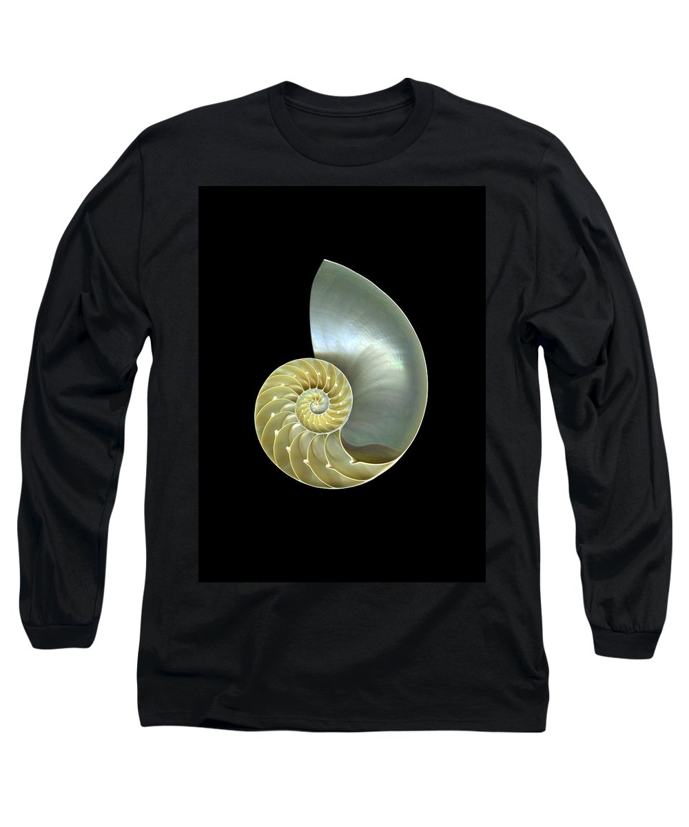 Slanec Long Sleeve T-Shirt featuring the photograph Nautilus Nr.1 by Christian Slanec