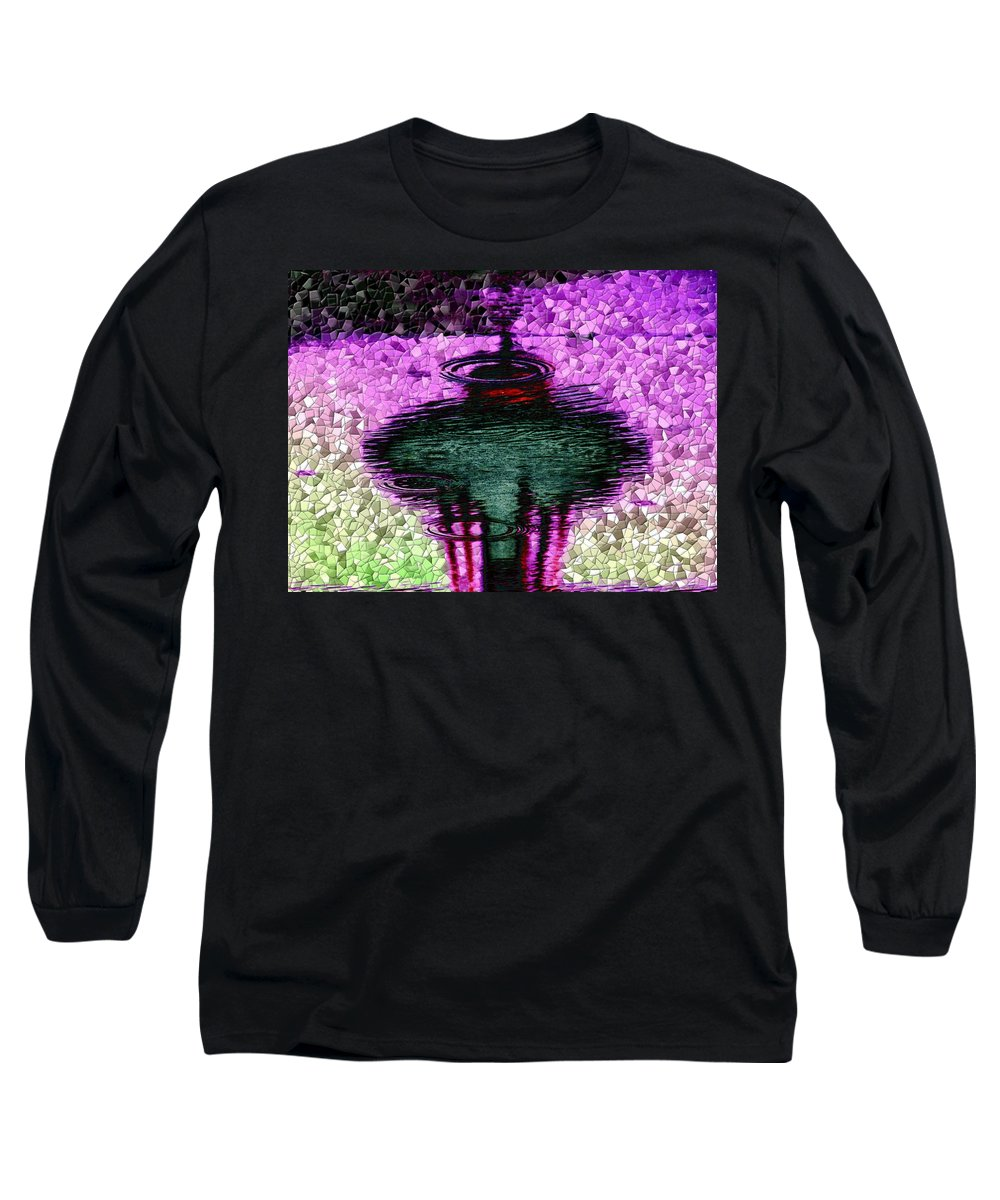 Seattle Long Sleeve T-Shirt featuring the digital art Needle In A Raindrop Stack 3 by Tim Allen
