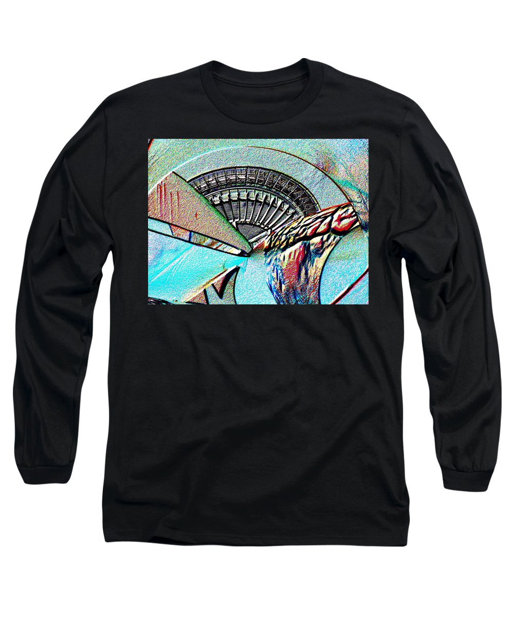 Seattle Long Sleeve T-Shirt featuring the digital art Needle Tubes by Tim Allen