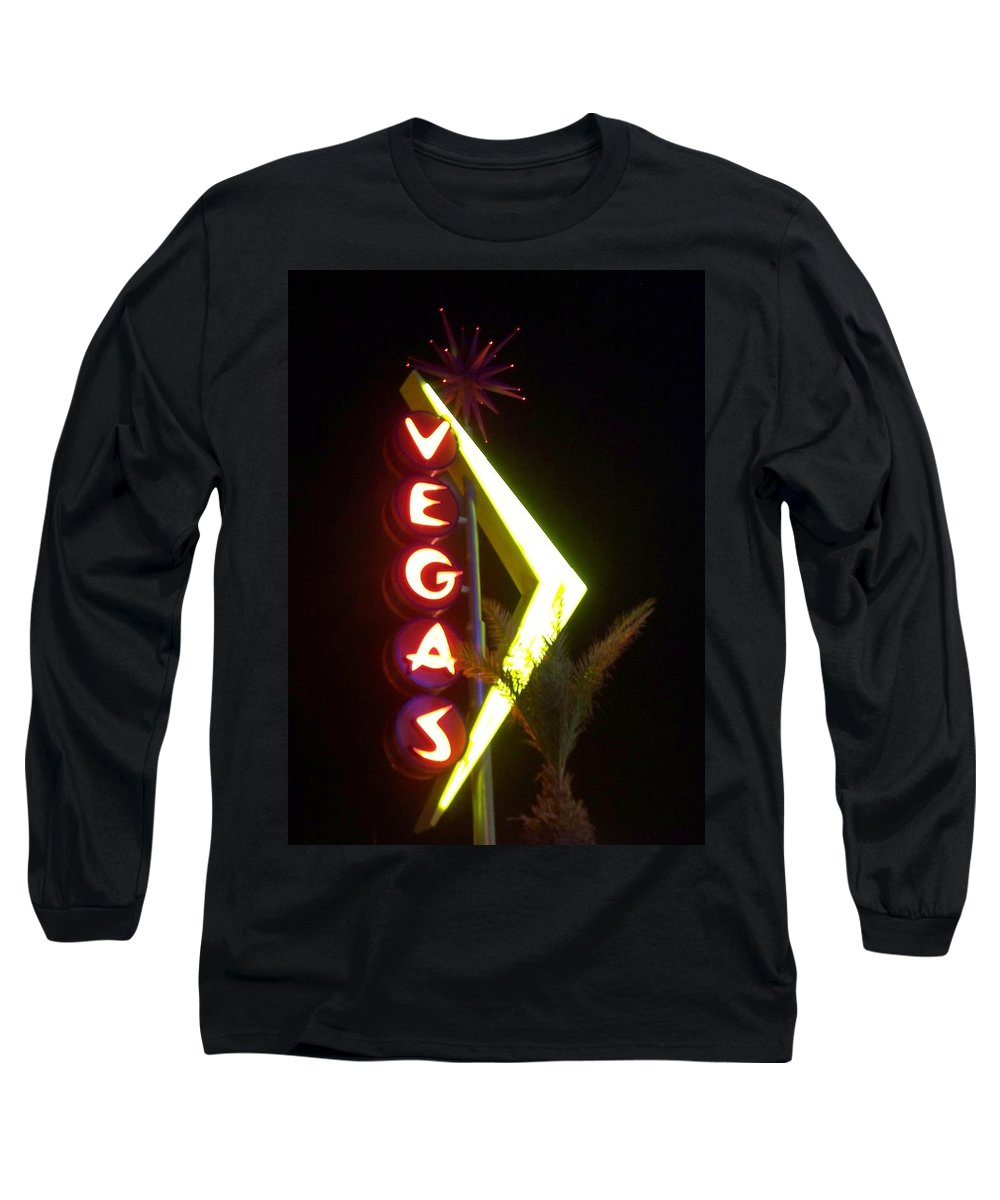 Fremont East Long Sleeve T-Shirt featuring the photograph Neon Signs 2 by Anita Burgermeister